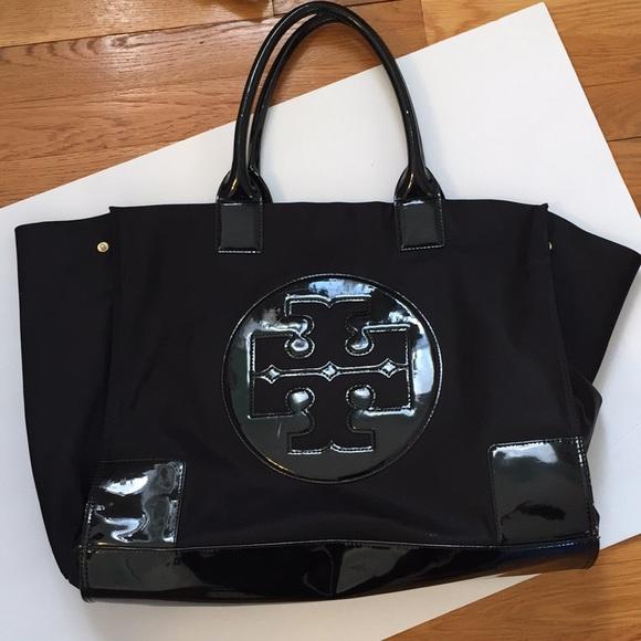 f821073e1c Tory Burch Bags   Ella Tote Black Bag Large   Poshmark